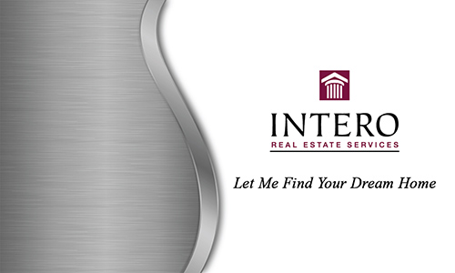 Gray Intero Real Estate Services Business Card - Design #139052