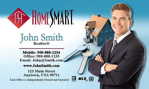 Blue Home Smart Business Card - Design #140011