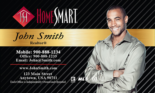 Black Home Smart Business Card - Design #140022
