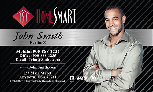 Gray Home Smart Business Card - Design #140023
