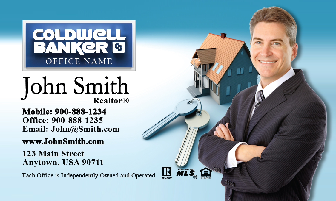 Coldwell Banker Business Card House And Key Design 104031