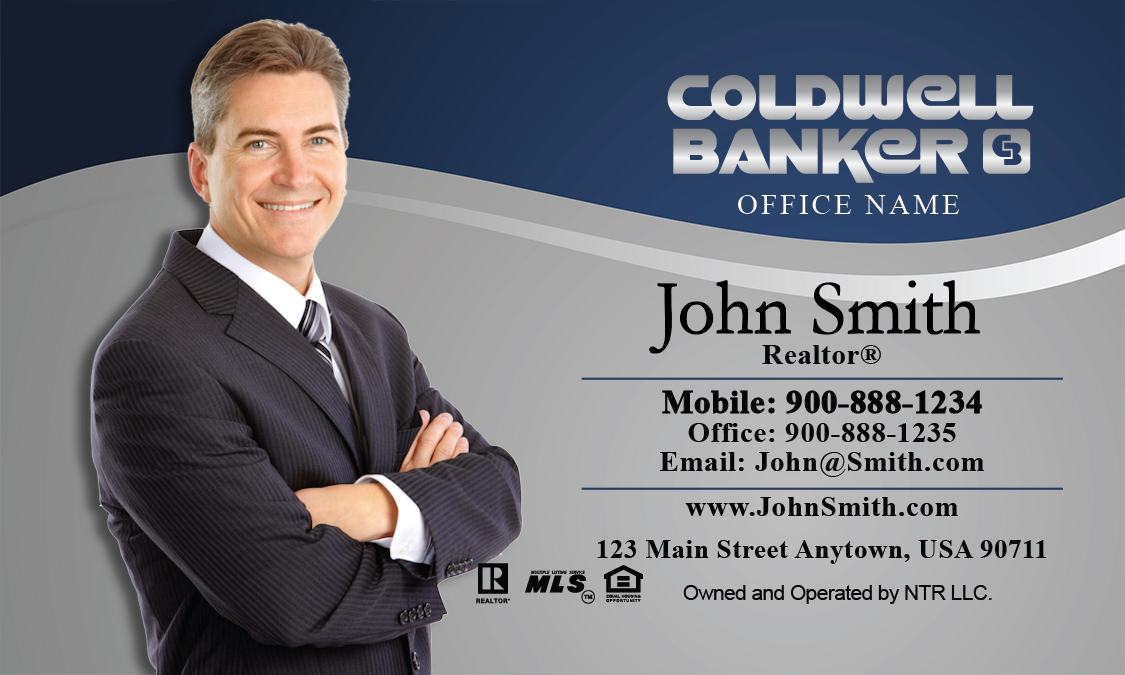 Coldwell banker business card professional blue with personal photo coldwell banker business card professional blue with personal photo design 104071 cheaphphosting Choice Image