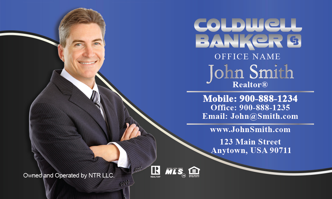 With Personal Photo Coldwell Banker Business Card Design - Coldwell banker business card template