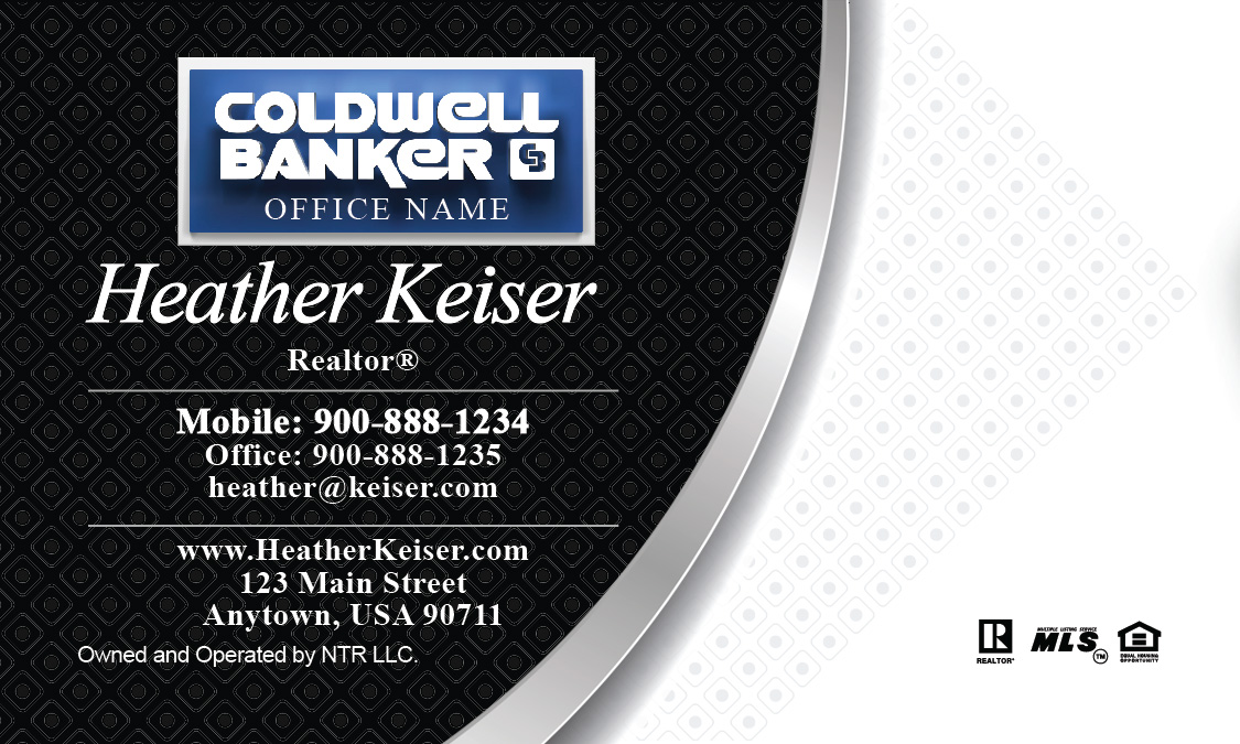 black and white coldwell banker business card design 104221