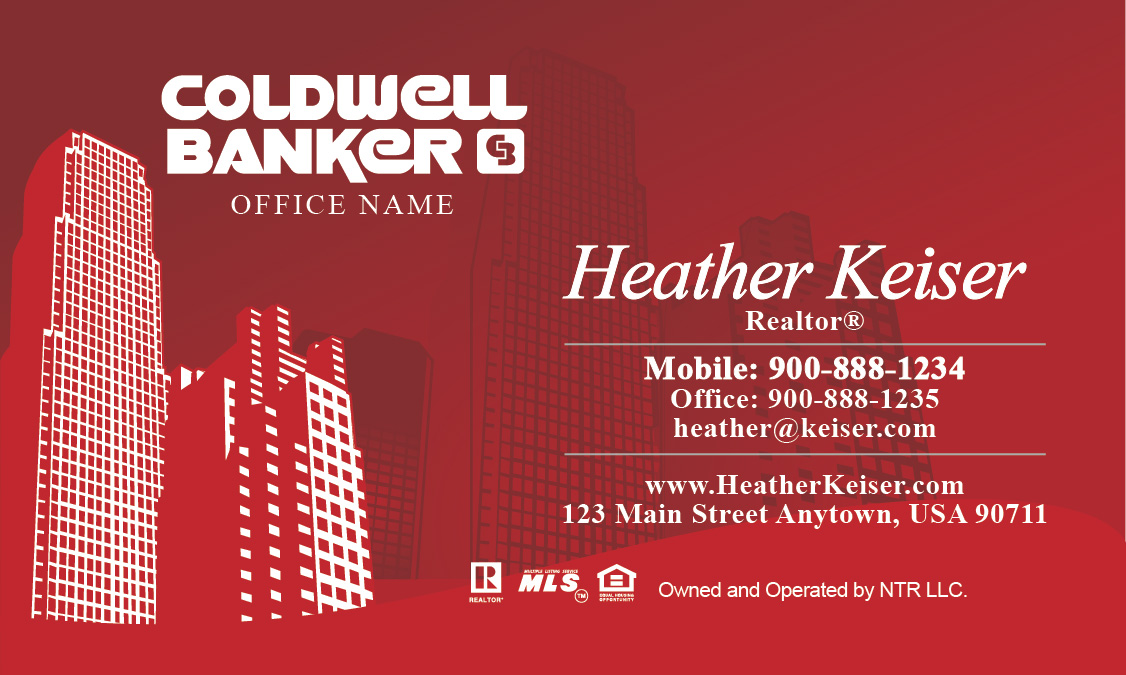 York Style Coldwell Banker Business Card - Design #104251