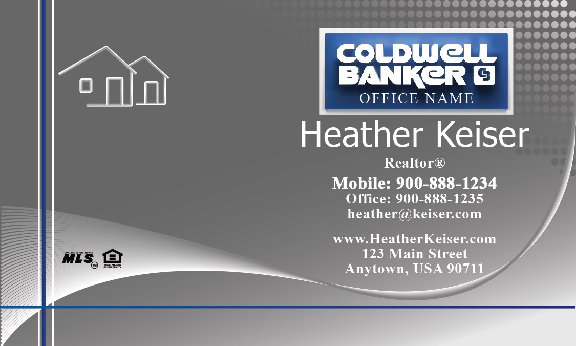 Silver Coldwell Banker Business Card - Design #104301