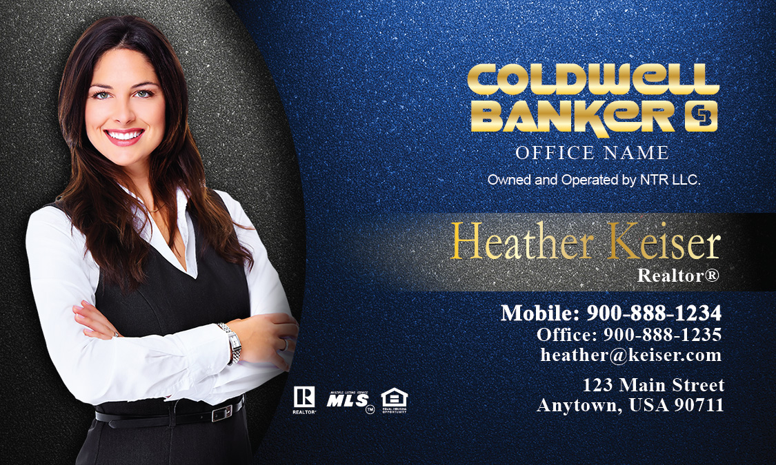 coldwell banker business card photo overlay blue design 104341 - Coldwell Banker Business Cards