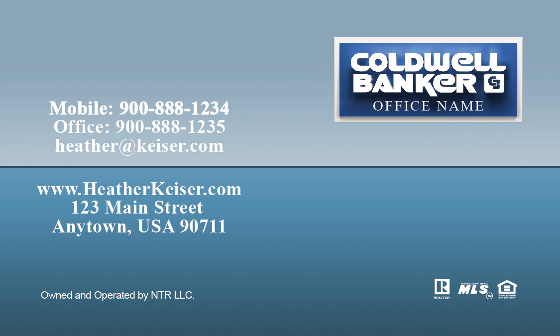 Coldwell Banker Business Card with 3D Logo - Design #104371
