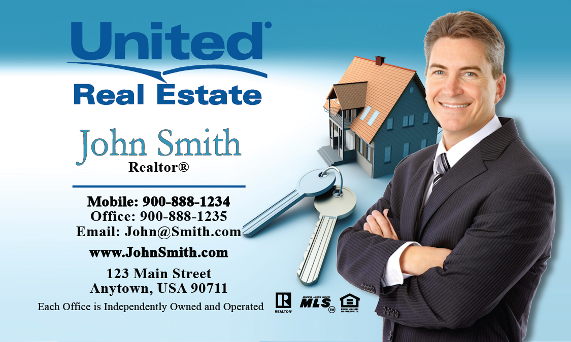 United Real Estate Business Cards   PrintifyCards