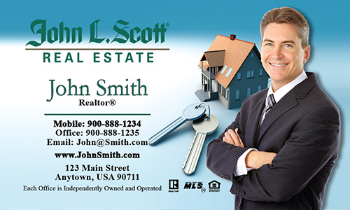 Blue John L Scott Business Card - Design #142011