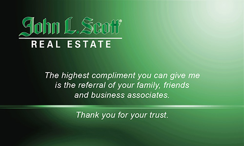 Green John L Scott Business Card - Design #142021