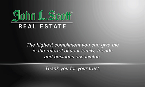 Black John L Scott Business Card - Design #142022