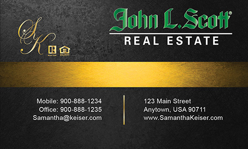 Black John L Scott Business Card - Design #142032