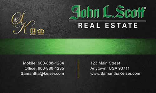 Gray John L Scott Business Card - Design #142033