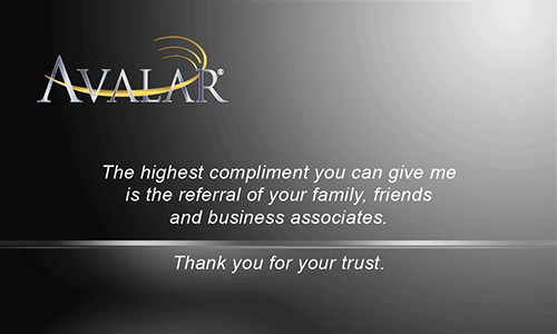 Black Avalar Business Card - Design #144032