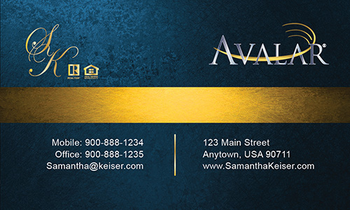 Blue Avalar Business Card - Design #144041