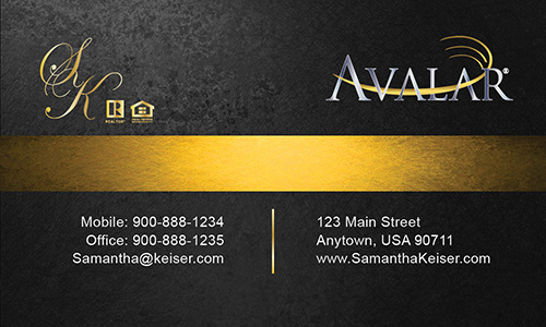 Black Avalar Business Card - Design #144042