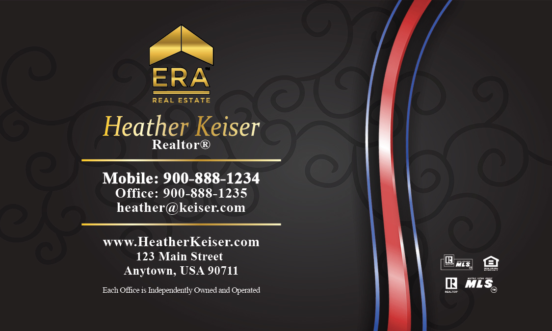 Era real estate logo in gold business card design 145031 colourmoves