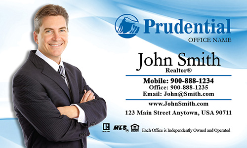 Blue Prudential Agent Business Card - Design #105011