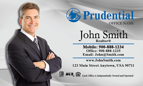 Gray Prudential Agent Business Card - Design #105012