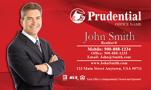 Gray Prudential Agent Business Card - Design #105013