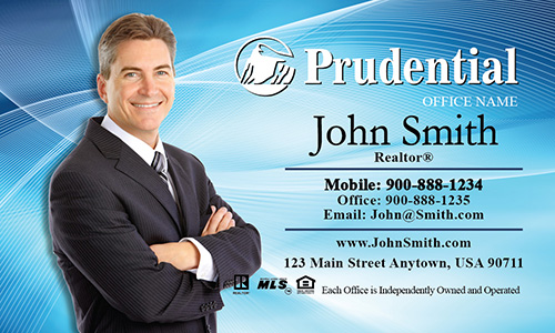 Prudential Business Card Blue with White - Design #105021