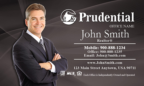 Gray with White Prudential Logo Business Card - Design #105022