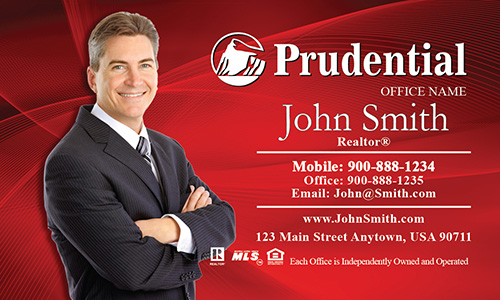 Prudential Business Card Red - Design #105023