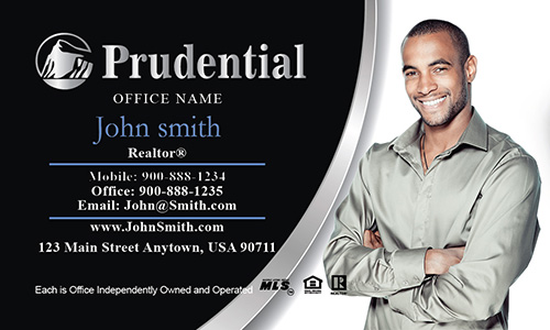 Prudential Business Card with Realtor Photo - Design #105041