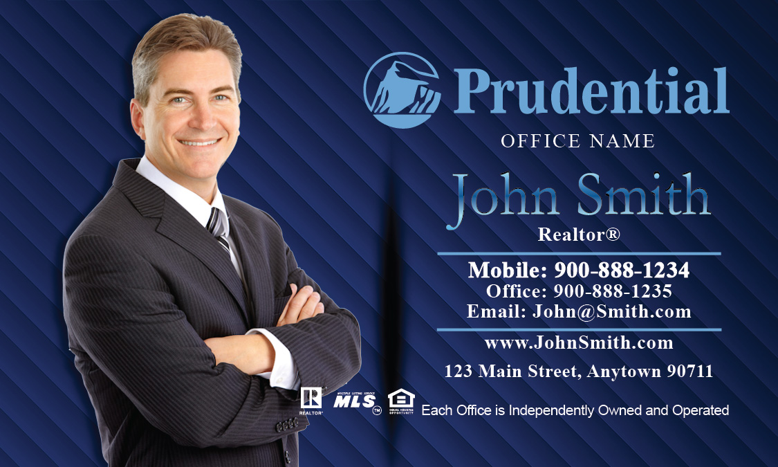 Prudential broker business card design 105061 reheart Choice Image