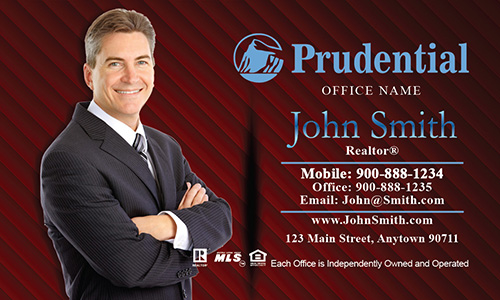 Prudential Broker Business Card - Design #105063