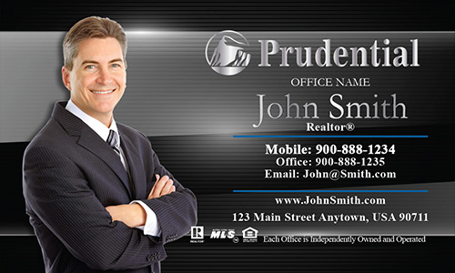 Prudential Business Card Metallic Shine - Design #105081