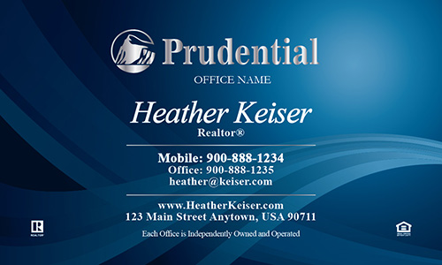 Prudential Business Card Beautiful Blue - Design #105091