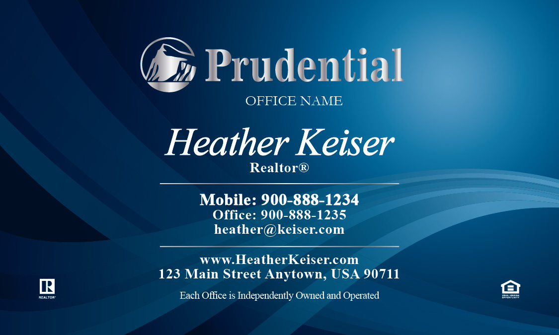 Prudential business card beautiful blue design 105091 reheart Image collections