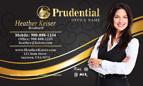 Prudential Business Card Black and Gold - Design #105112