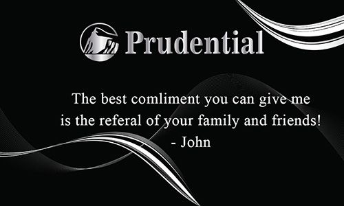 Prudential Business Card with Agent Head shot Black - Design #105121