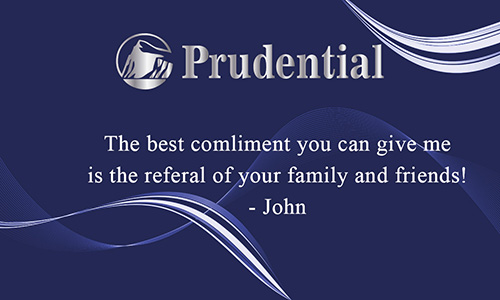 Prudential Business Card with Agent Head shot Blue - Design #105122