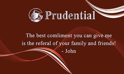Prudential Business Card with Agent Head shot Red - Design #105123