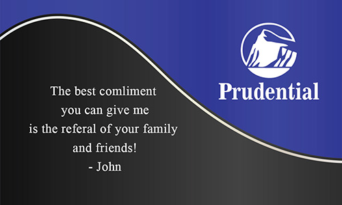 Prudential Business Card Professional Blue with Realtor Photo - Design #105131