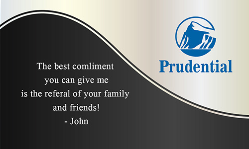 White Prudential Business Card - Design #105132