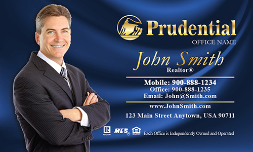 Prudential Business Card Blue Silk - Design #105141