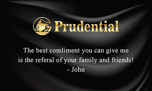 Prudential Business Card Black Silk - Design #105142