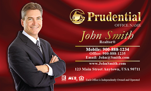Prudential Business Card Red Silk - Design #105143