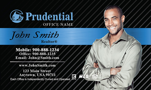Prudential Black and Blue Business Card - Design #105151