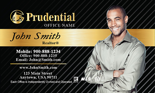 Prudential Black and Gold Business Card - Design #105152