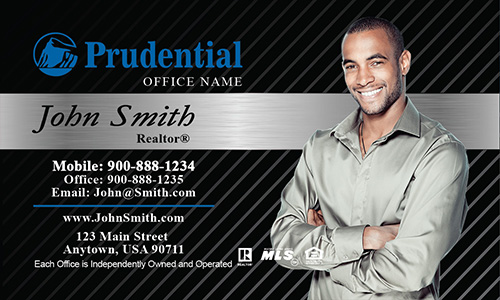 Prudential Black and Gray Business Card - Design #105153