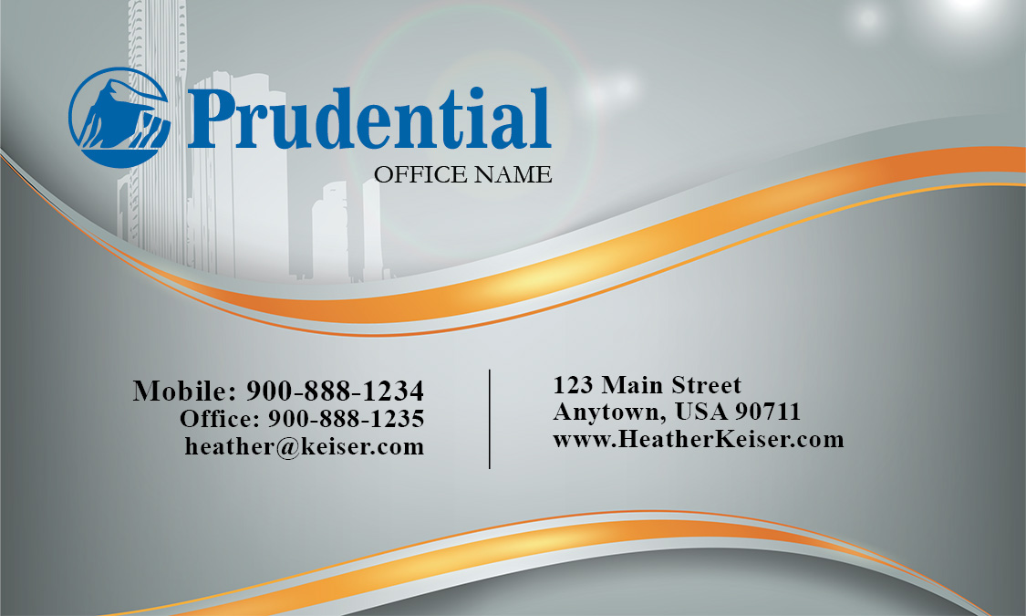 Prudential real estate broker business card design 105161 reheart Image collections