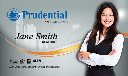 Prudential Real Estate Broker Business card - Design #105161