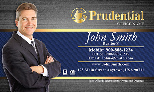 Prudential Business Card Steel and Blue Pattern - Design #105181
