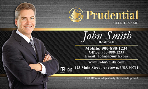 Prudential Business Card Steel and Black Pattern - Design #105182